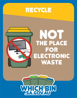 Recycle your old electronic items at a recycling centre.
