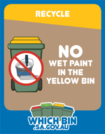 Wet paint and other liquids can send recyclables to waste!
