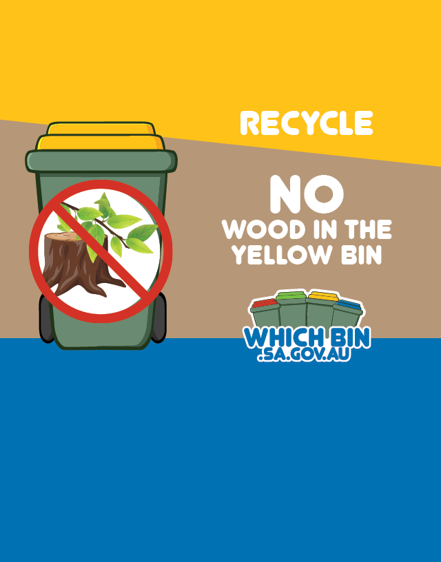 Please place wood and other garden materials in the green lidded bin.
