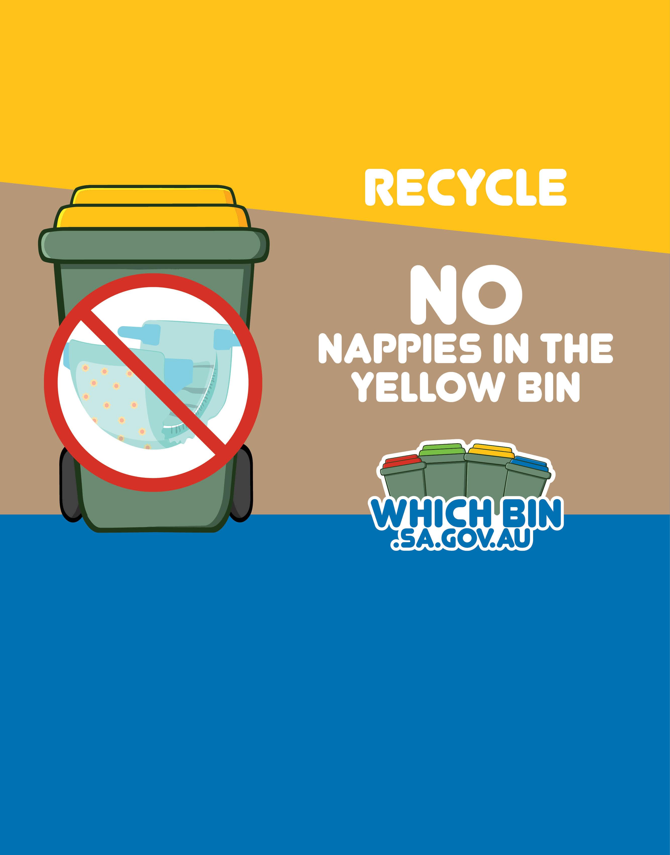 A Nappy in the recycle bin doesn't make anyone happy!