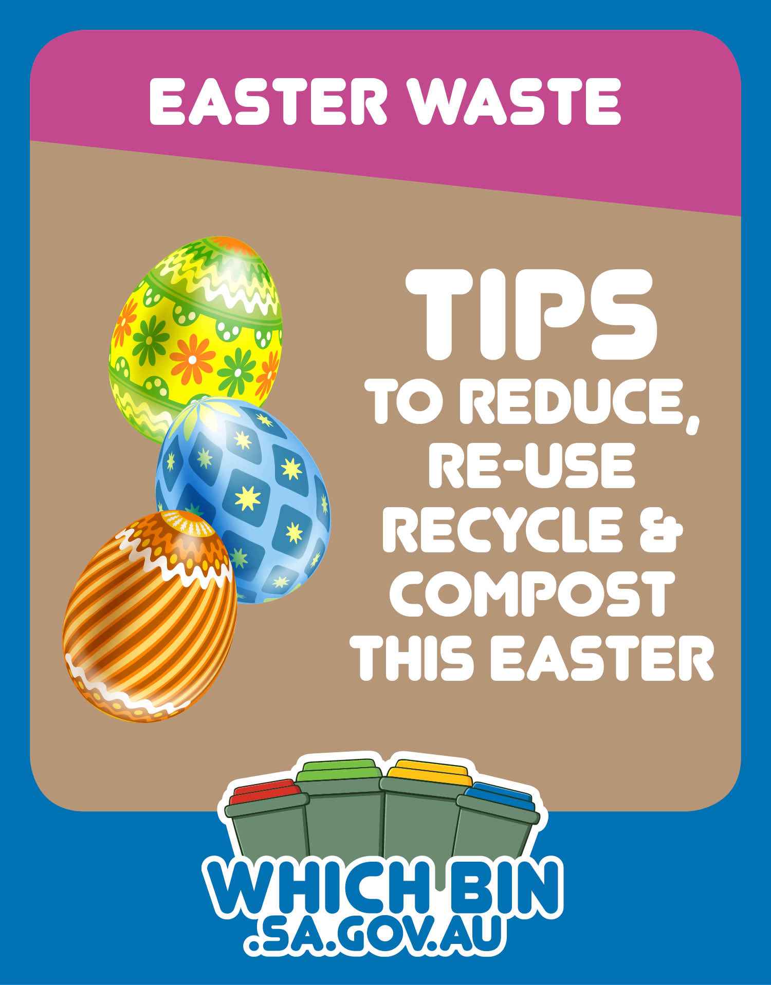 Why waste it? Eggsellent ways to avoid, reduce, reuse, recycle and compost waste this Easter!