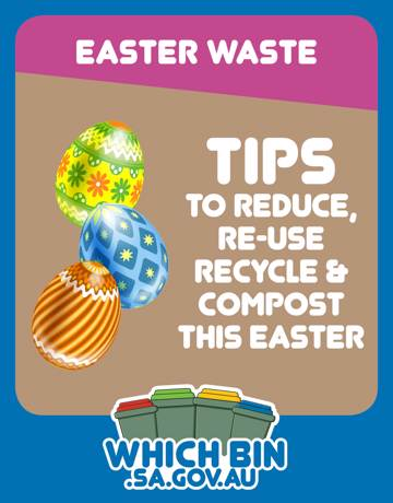 Remember to recycle your foil Easter Eggs wrappers.