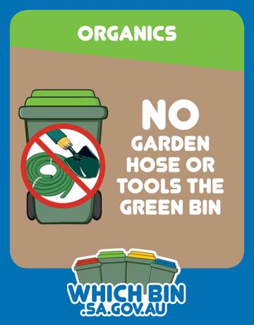 No garden hoses, irrigation pipe or garden tools please