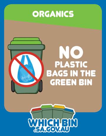 Plastic is not fantastic in the green bin.
