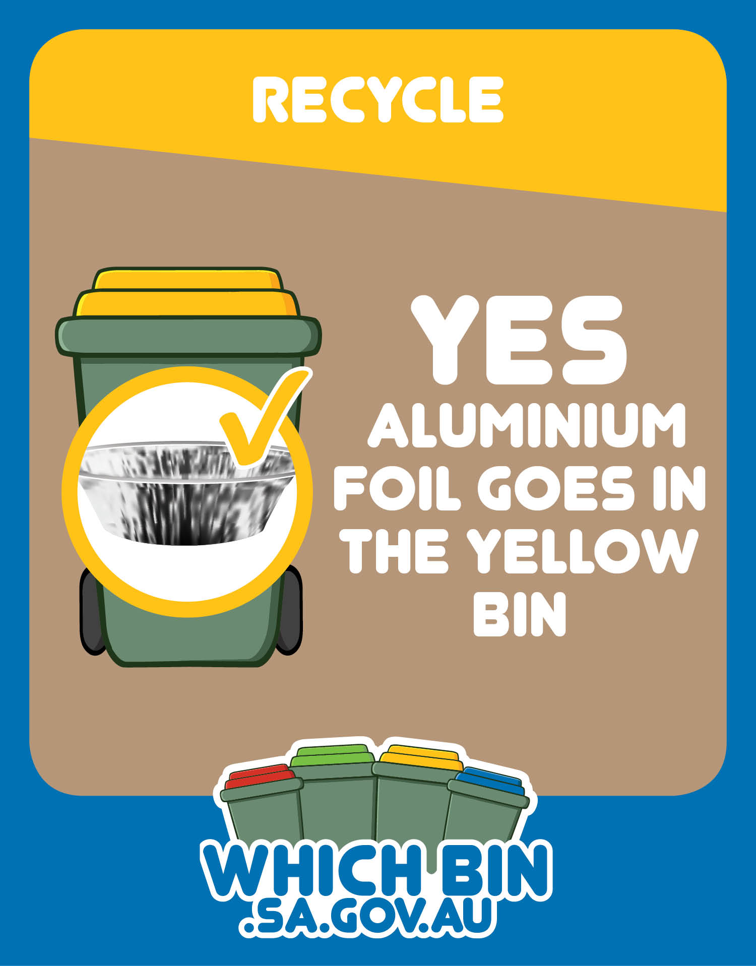 Aluminium foil trays and wrapping are 100% recyclable
