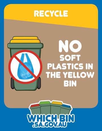Soft plastic is not fantastic in your recycling bin!