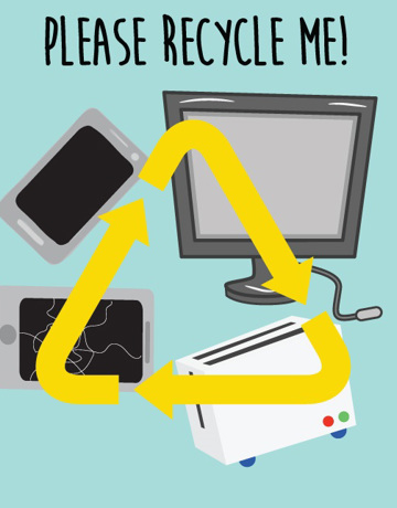 Recycle your old electronic items at designated recycling centres.