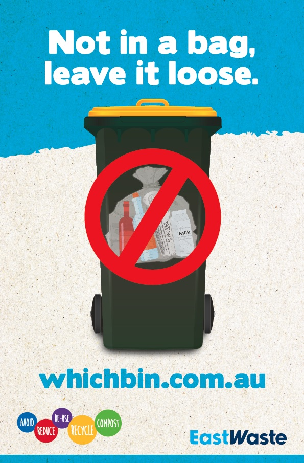 We hate to be a nag, but please don't place your recycling in a bag!